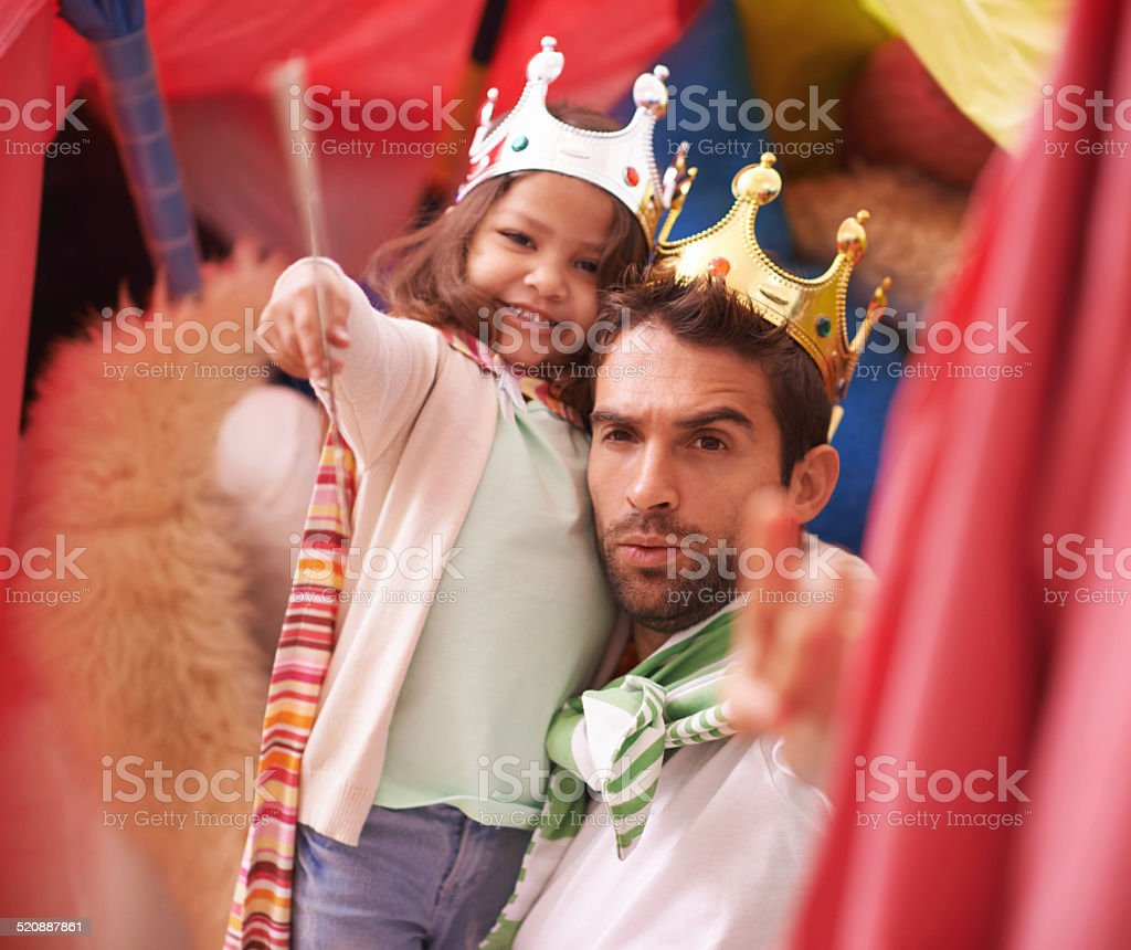 You there! Bow before your queen! stock photo