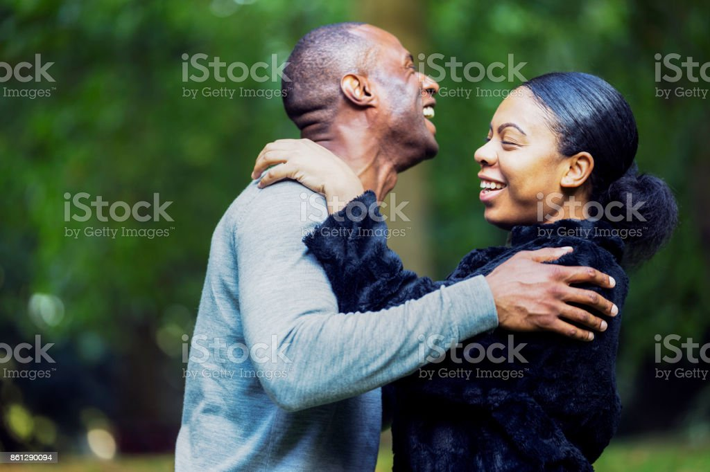 You want to kiss out here? stock photo