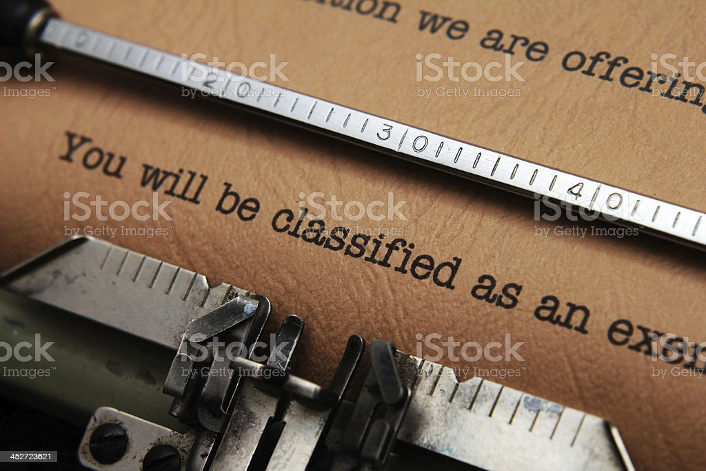 You will be classified stock photo