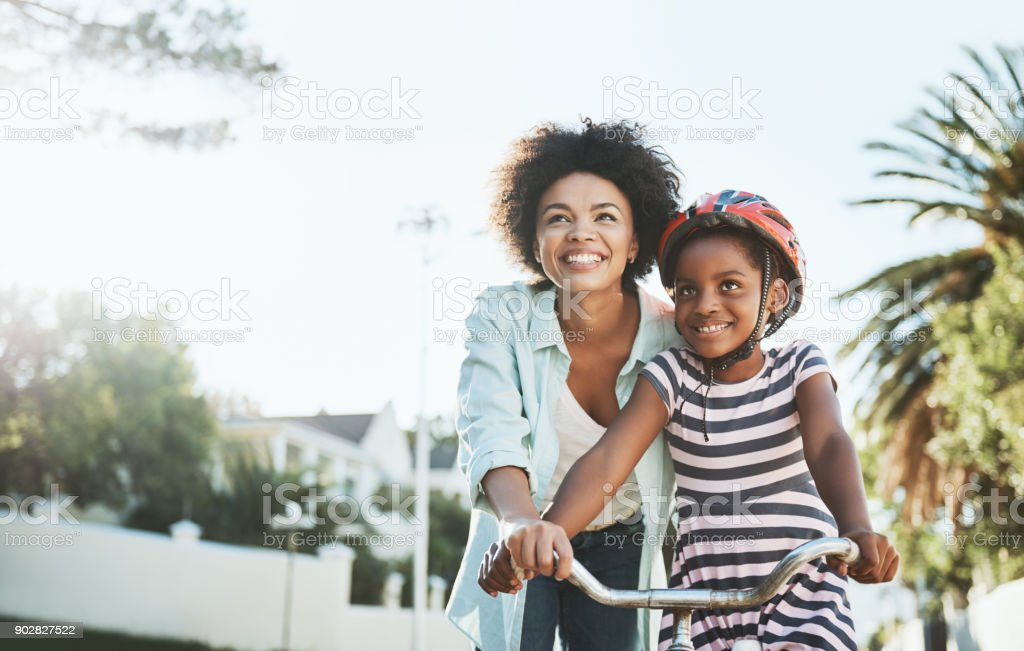 You will see it's easy to ride a bicycle stock photo
