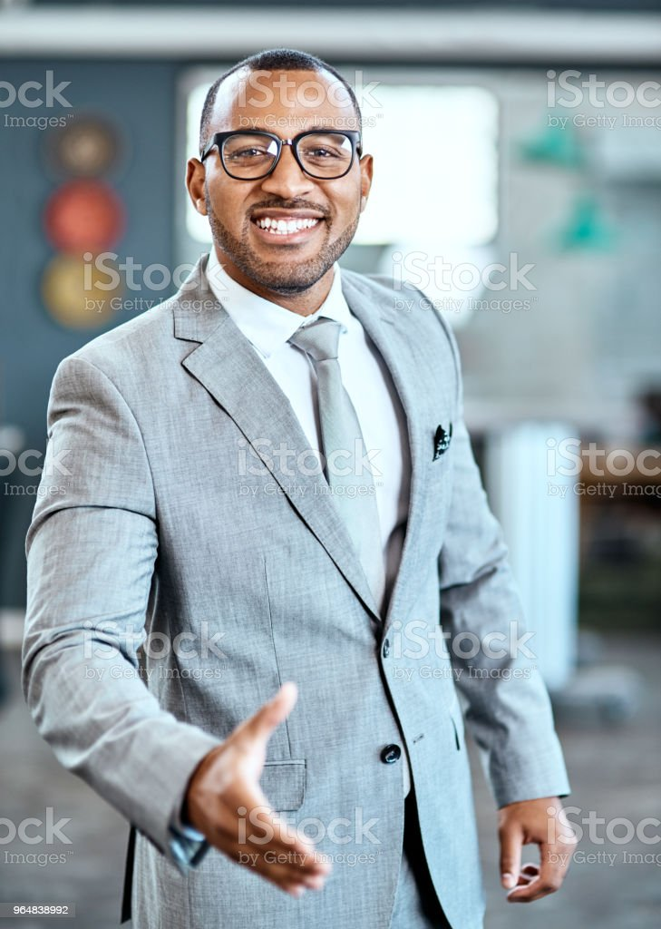 You won't regret doing business with us royalty-free stock photo