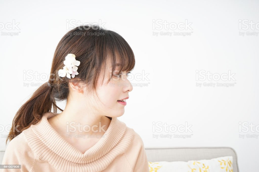 Youg woman relax royalty-free stock photo