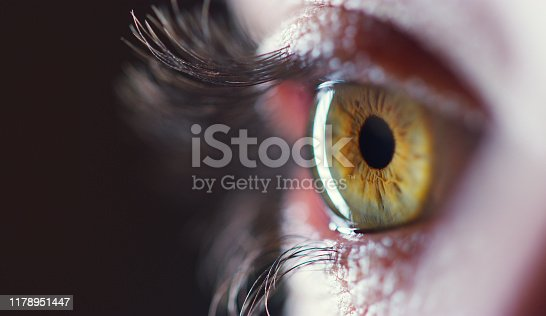 Cropped shot of an unrecognizable young woman's eye against a dark background