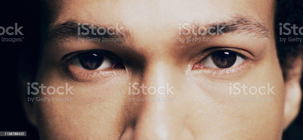 Sie werden die Wahrheit immer in den Augen eines Menschen finden - Lizenzfrei Abstrakt Stock-Foto