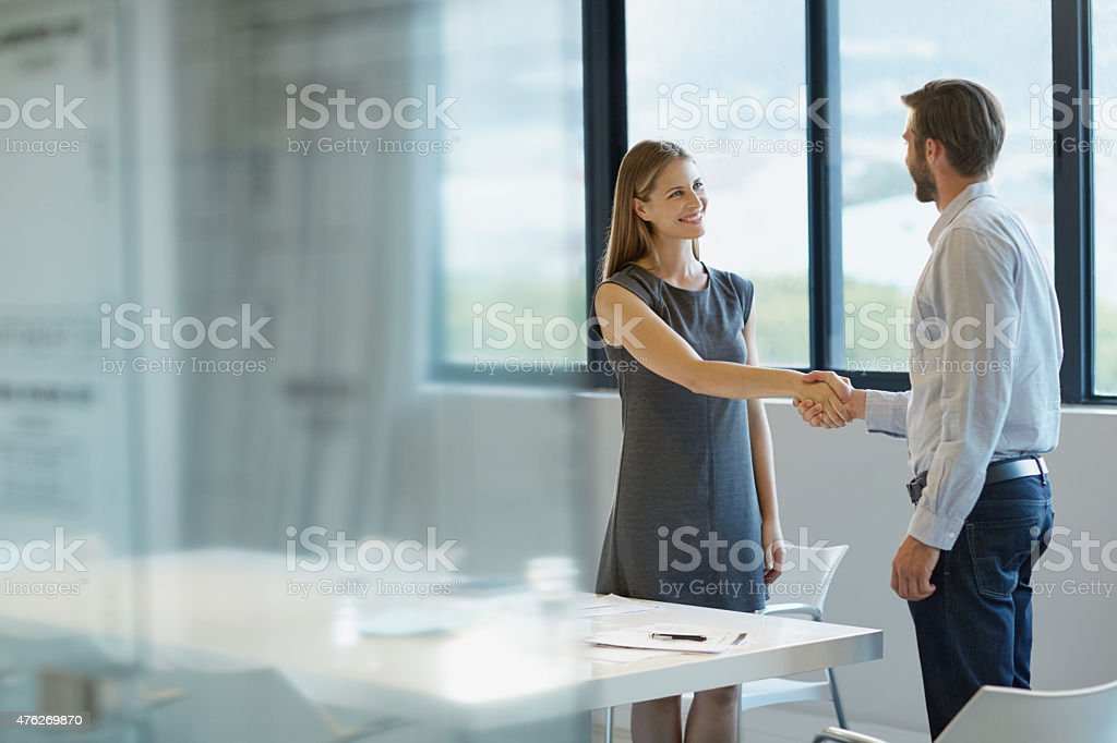 You'll be a great addition to the team stock photo