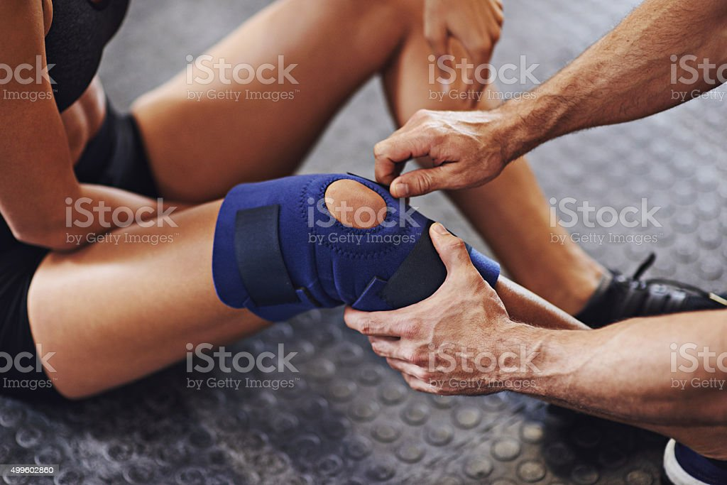 You'll be on your feet in no time stock photo