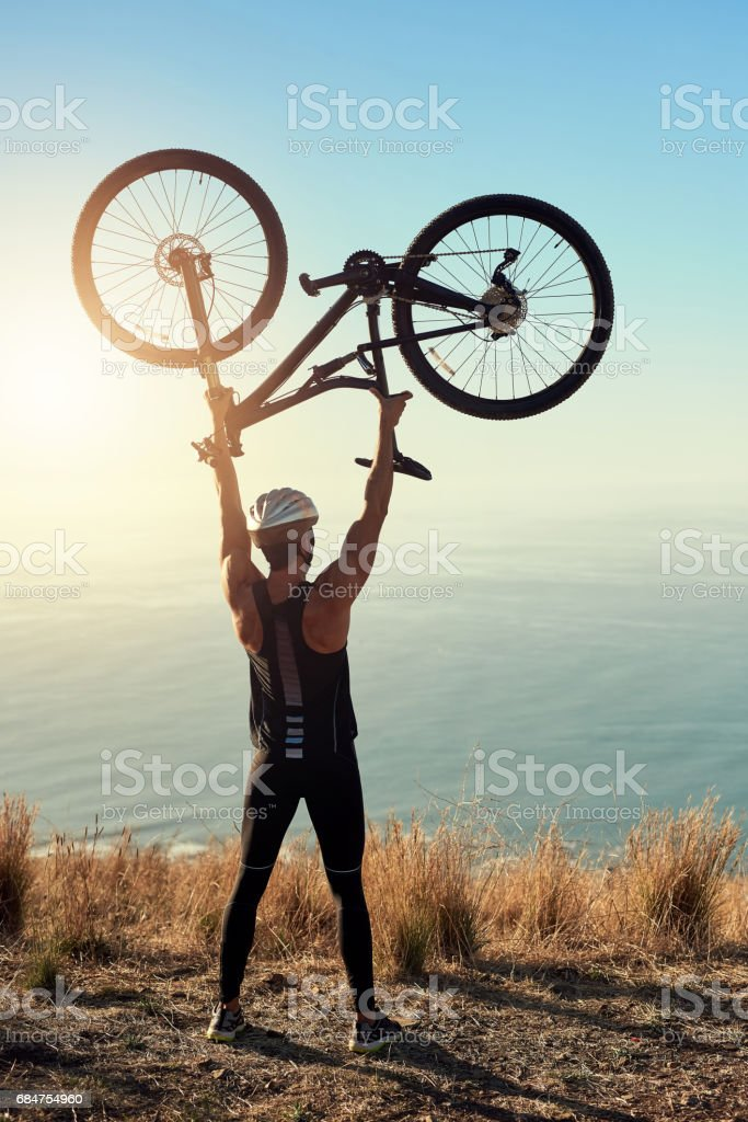 You'll get to the top eventually, keep going! stock photo