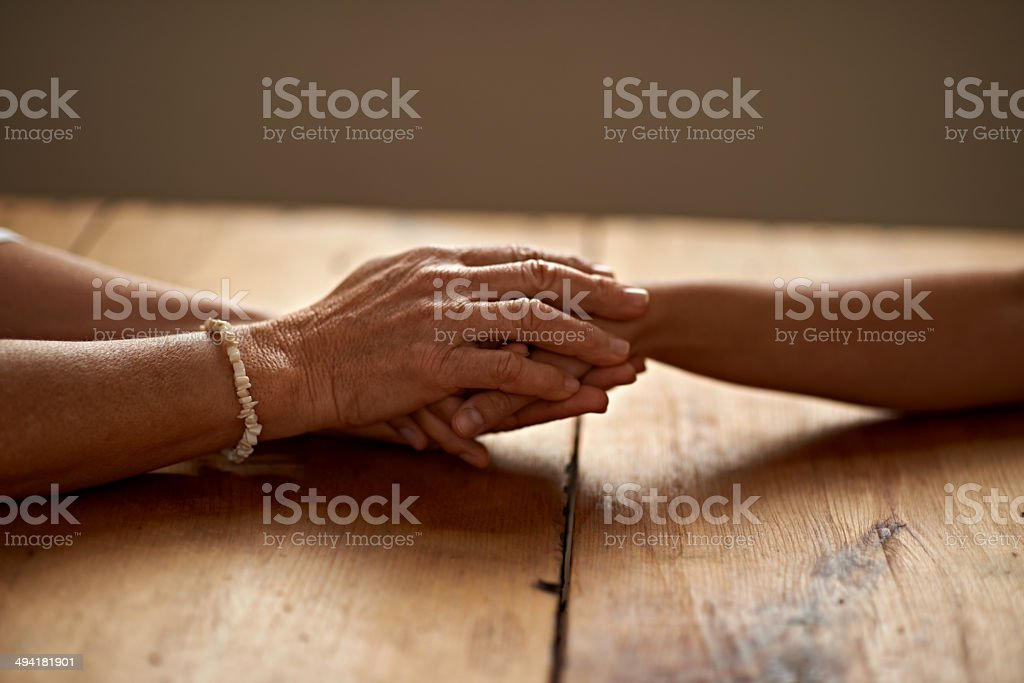 You'll never be without support stock photo
