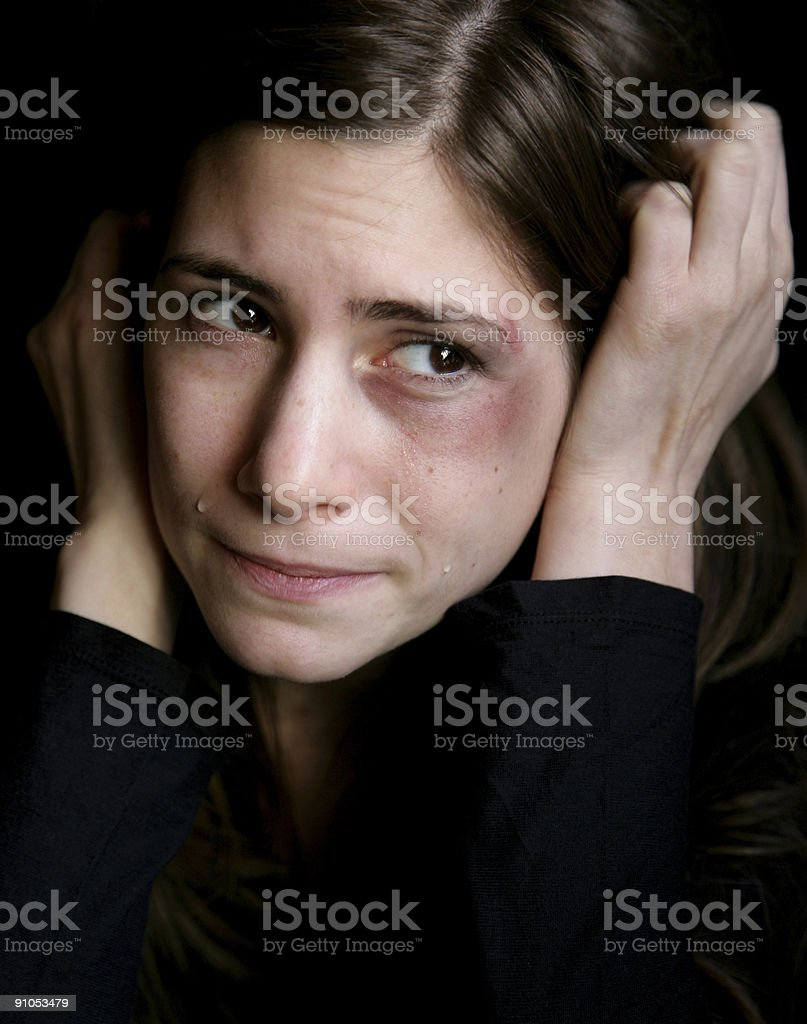 Young abused woman royalty-free stock photo