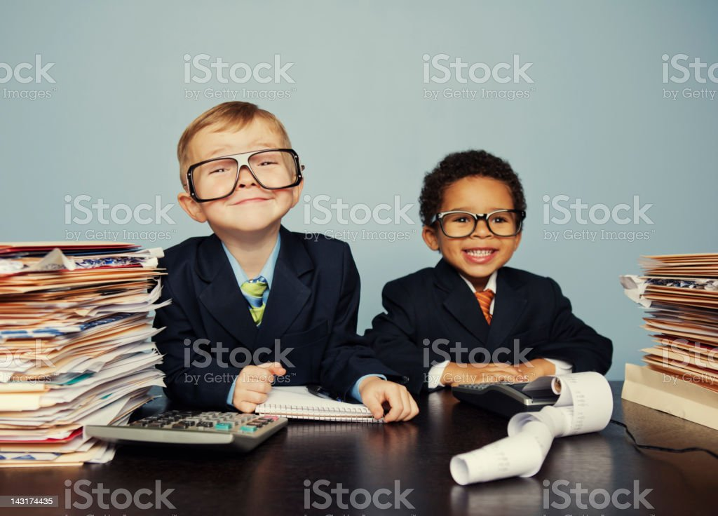 Young Accountants stock photo
