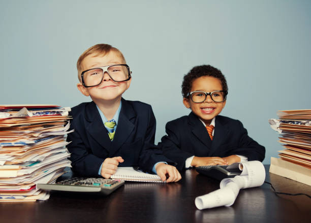 young accountants - unterschicht stereotypen stock-fotos und bilder