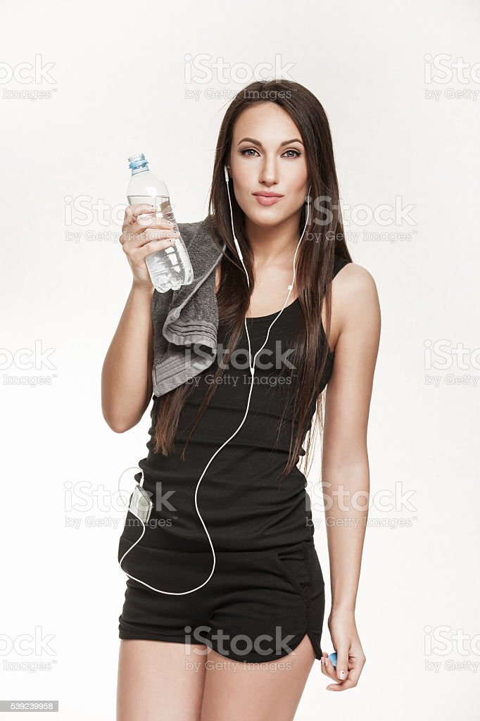 Young active woman at the gym royalty-free stock photo