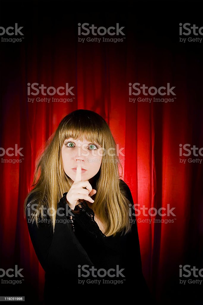 Young actress in theatre royalty-free stock photo