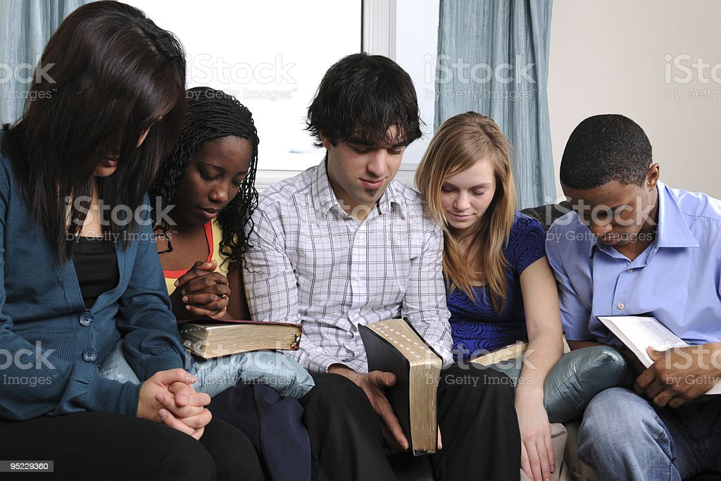 Young Adult Bible Study royalty-free stock photo