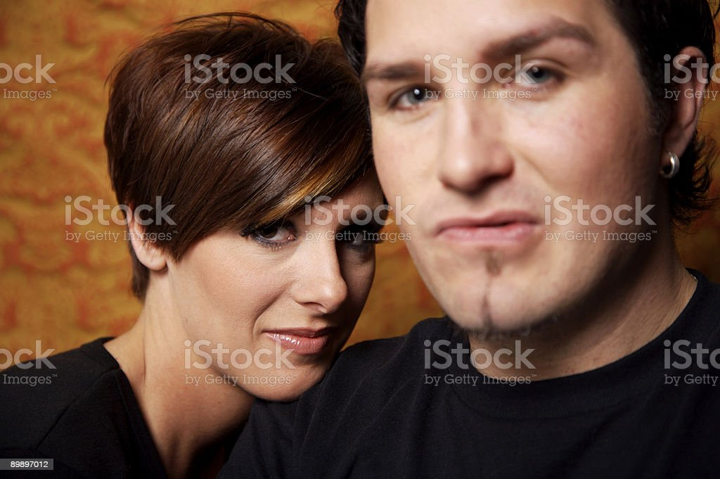 Young adult couple portraits royalty-free stock photo