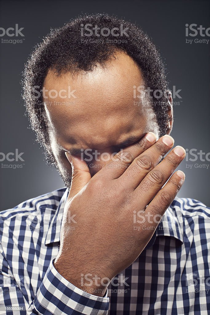 Young Adult Crying royalty-free stock photo