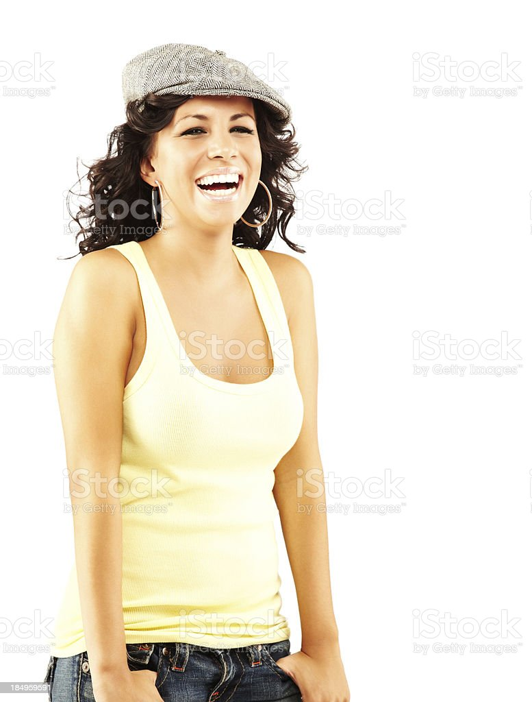 Young Adult Female Model in Casual Attire royalty-free stock photo