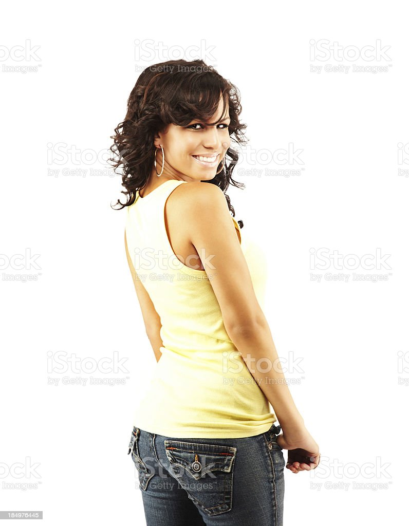 Young Adult Female Model in Casual Attire stock photo
