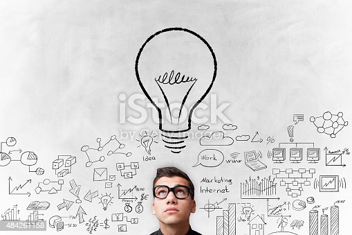 515913038 istock photo Young adult Idea concept on white background 484261158