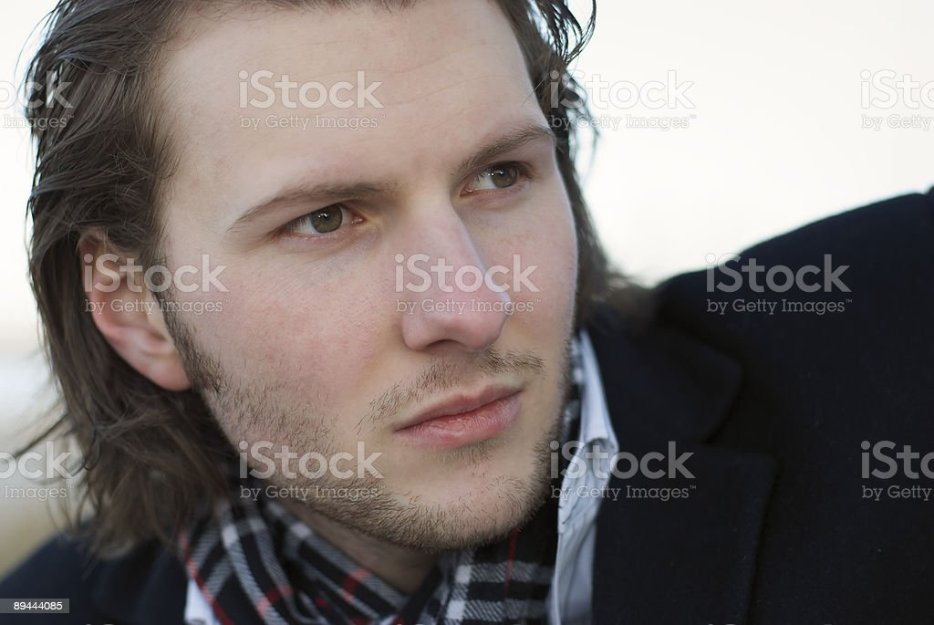 young adult in his 20s. high key. royalty-free stock photo