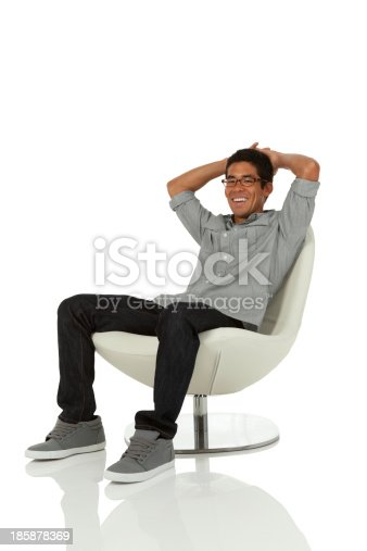istock Young Adult in modern chair 185878369