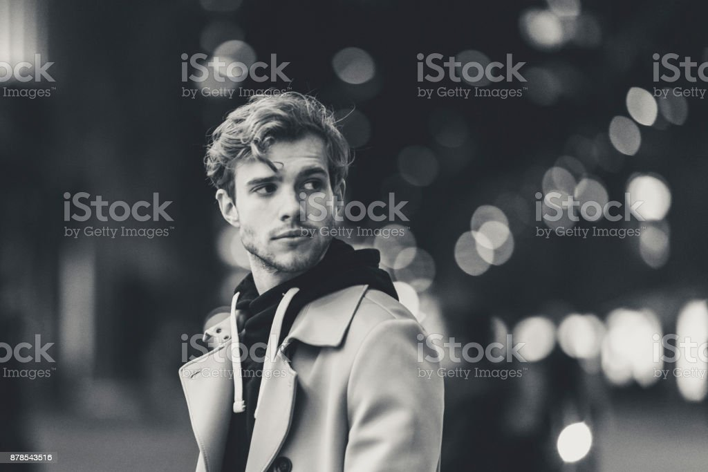 Young adult in the city stock photo