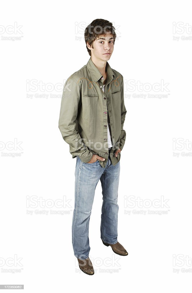 Young Adult Isolated royalty-free stock photo