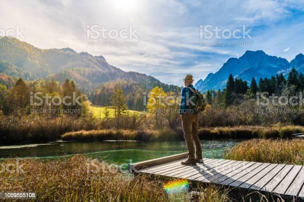 Young adult man hiking in julian alps zelenci picture id1059555108?b=1&k=6&m=1059555108&s=612x612&h=46qrizcnjgx7bau n7yhyyqqtkoqwg8g1xrjxrrxzlc=