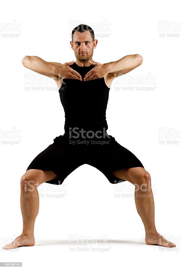 Junger Erwachsener Mann üben yoga – Foto