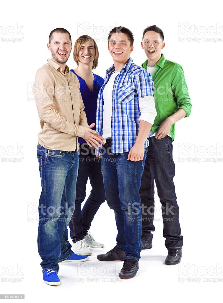 Young adult men royalty-free stock photo