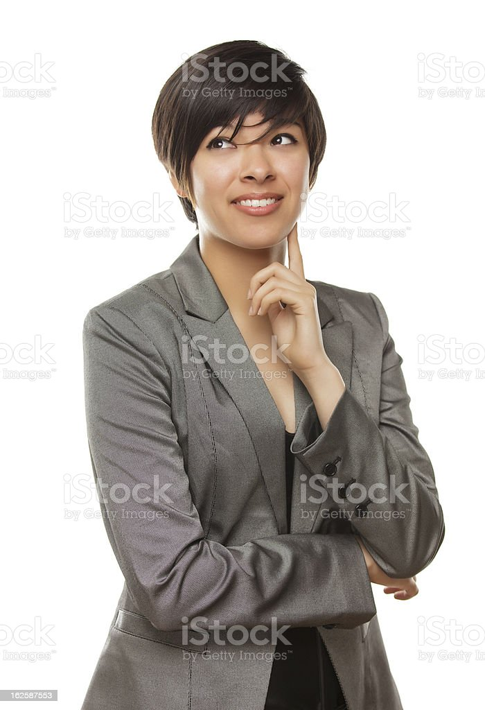 Young Adult Mixed Race Female Looking to the Side royalty-free stock photo