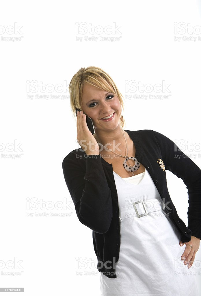 Young Adult on Phone royalty-free stock photo