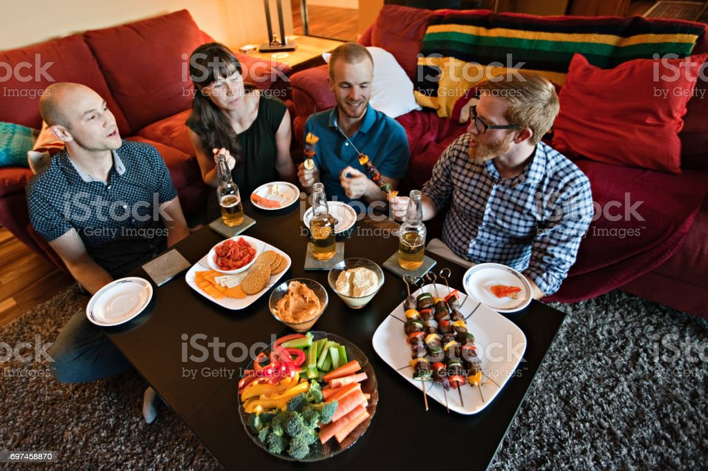 Young Adult Potluck stock photo