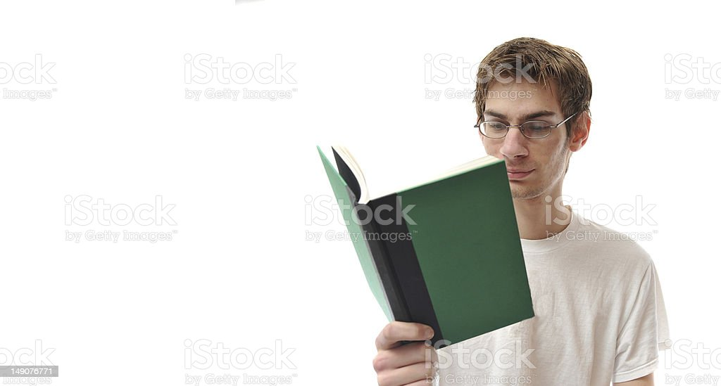 Young Adult Reading Book stock photo