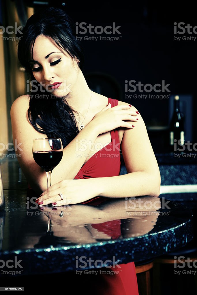 young adult woman winetasting royalty-free stock photo
