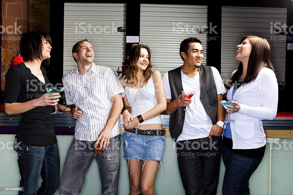 Young adults at  a nightclub royalty-free stock photo