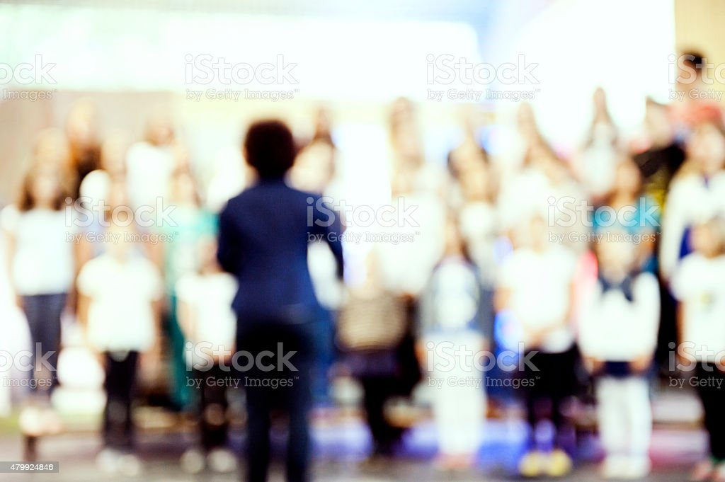 Young adults church choir stock photo