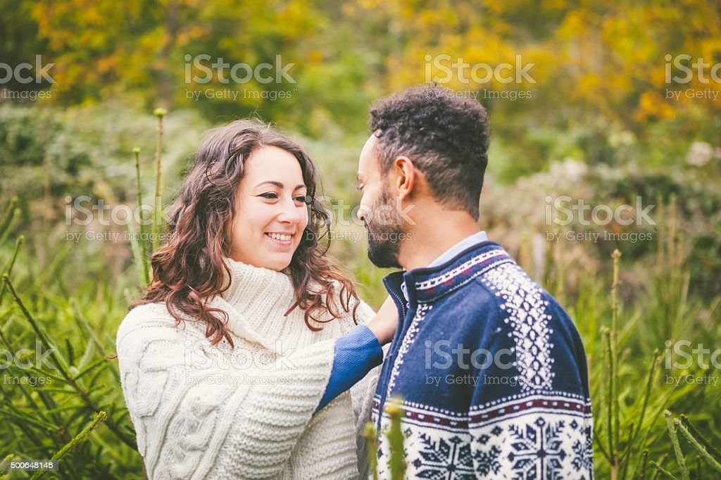 Young Adults Couple Outdoors stock photo