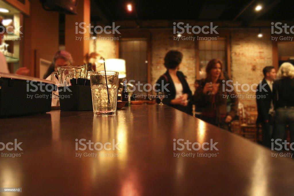Young adults enjoying the Houston nightlife. royalty-free stock photo