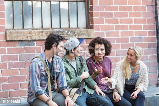521022435istockphoto Young adults hanging out talking 510491659