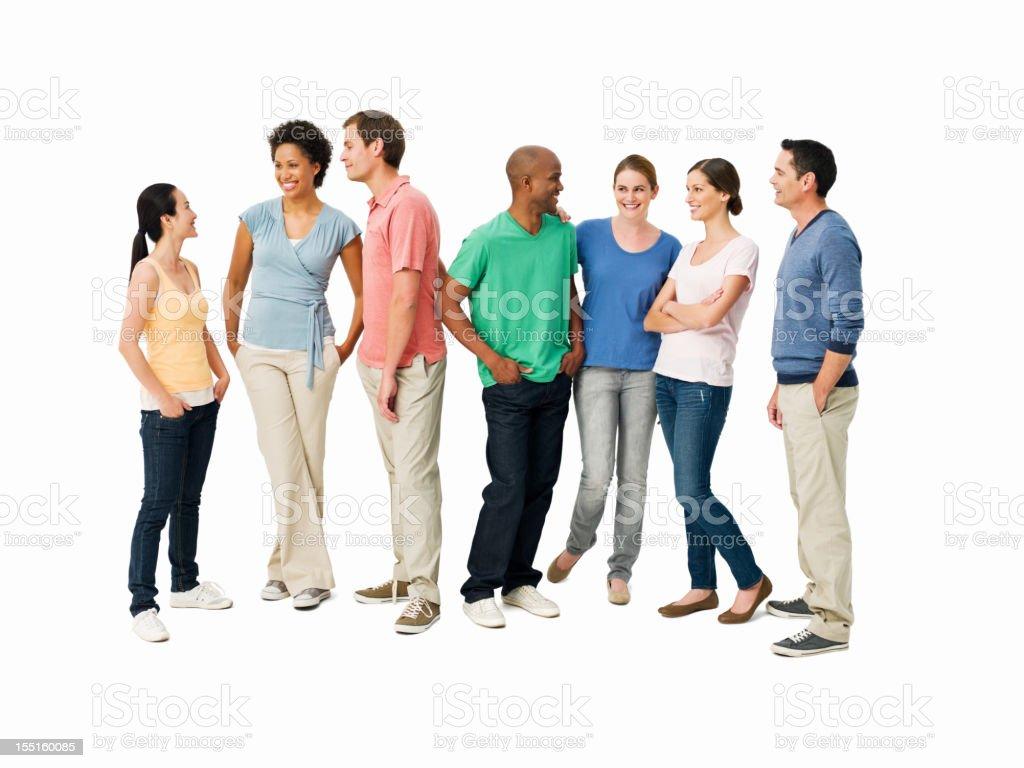 Junge Erwachsene, die Gespräche-isoliert – Foto