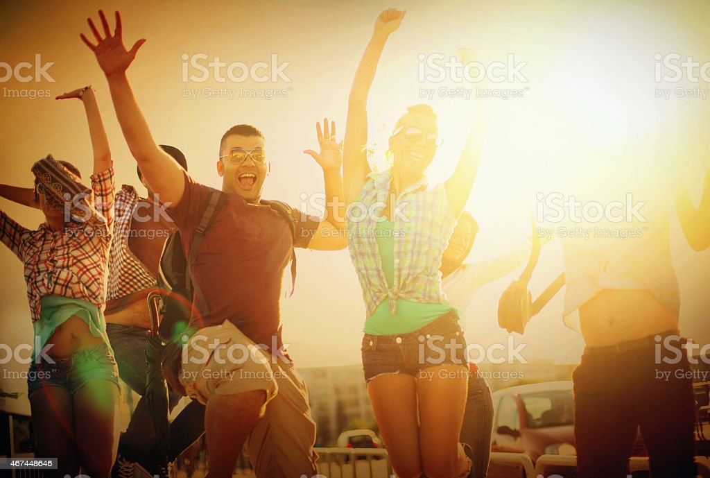 Young adults having fun. royalty-free stock photo