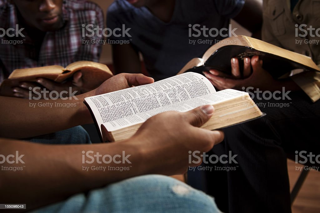 Young adults in a Bible study.