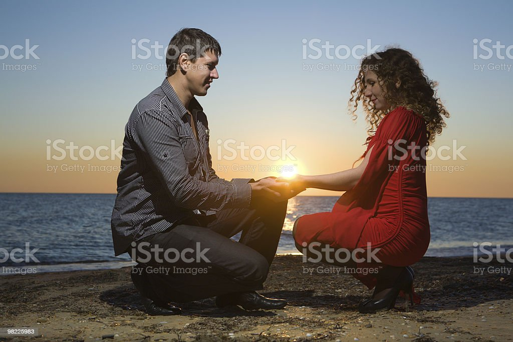 Young adults in love royalty-free stock photo