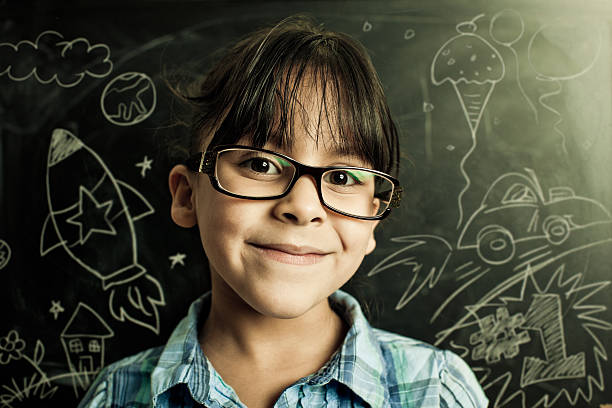 young adventurer with lots of plans stock photo