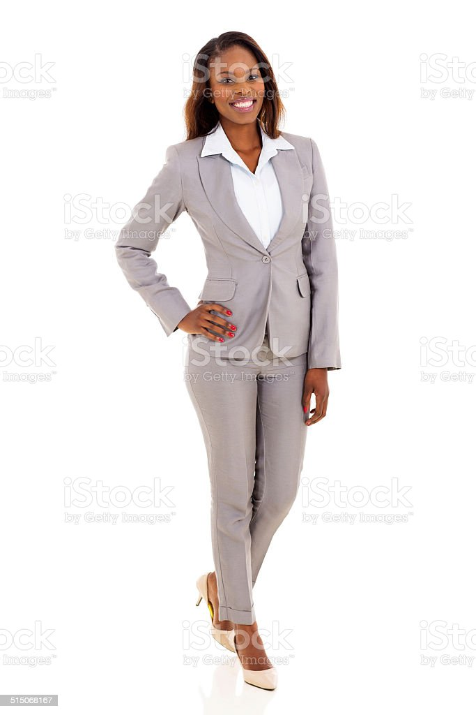 young african american businesswoman stock photo