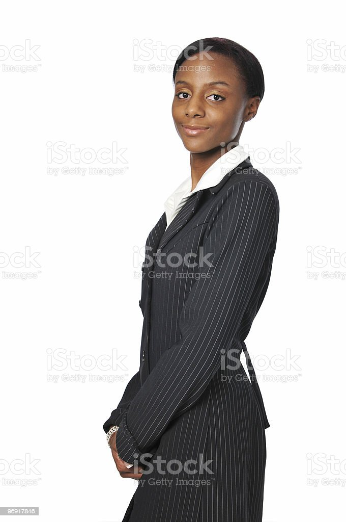 Young African American Businesswoman royalty-free stock photo