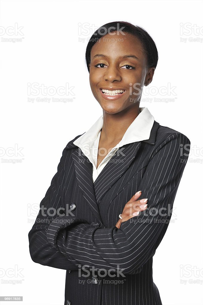 Young African American Businesswoman smiling royalty-free stock photo