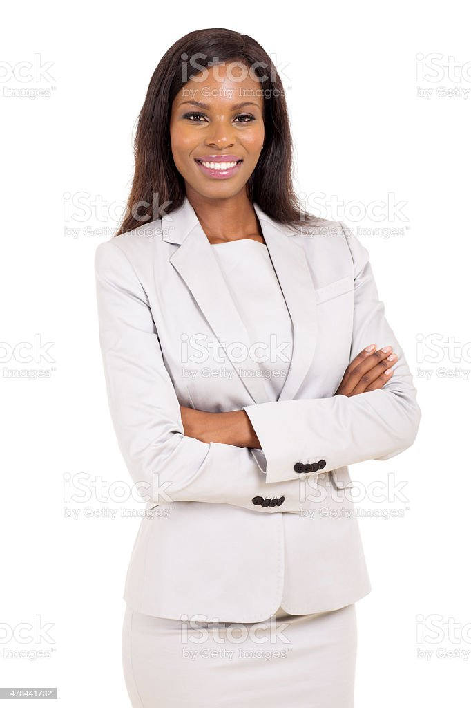 young african american career woman stock photo