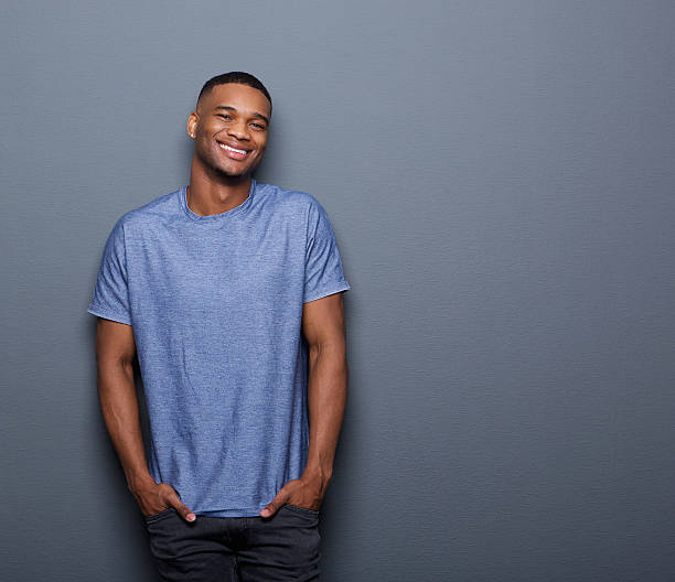 Young african american man smiling stock photo